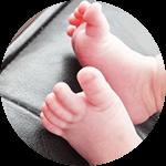 赤ちゃんの足裏