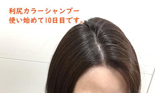 利尻カラーシャンプー10日目
