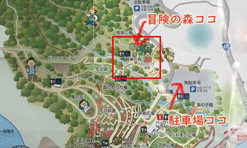 あいかわ公園マップ