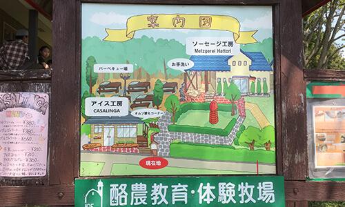 服部牧場のマップ