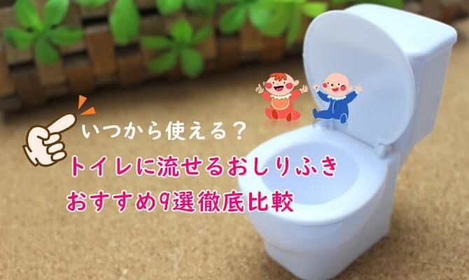 トイレに流せるおしりふきのおすすめ